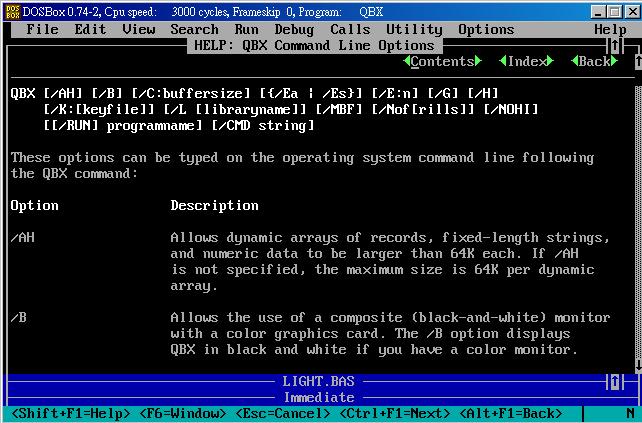 Quick Basic QBX.exe 使用超過64KB的動態記憶體空間